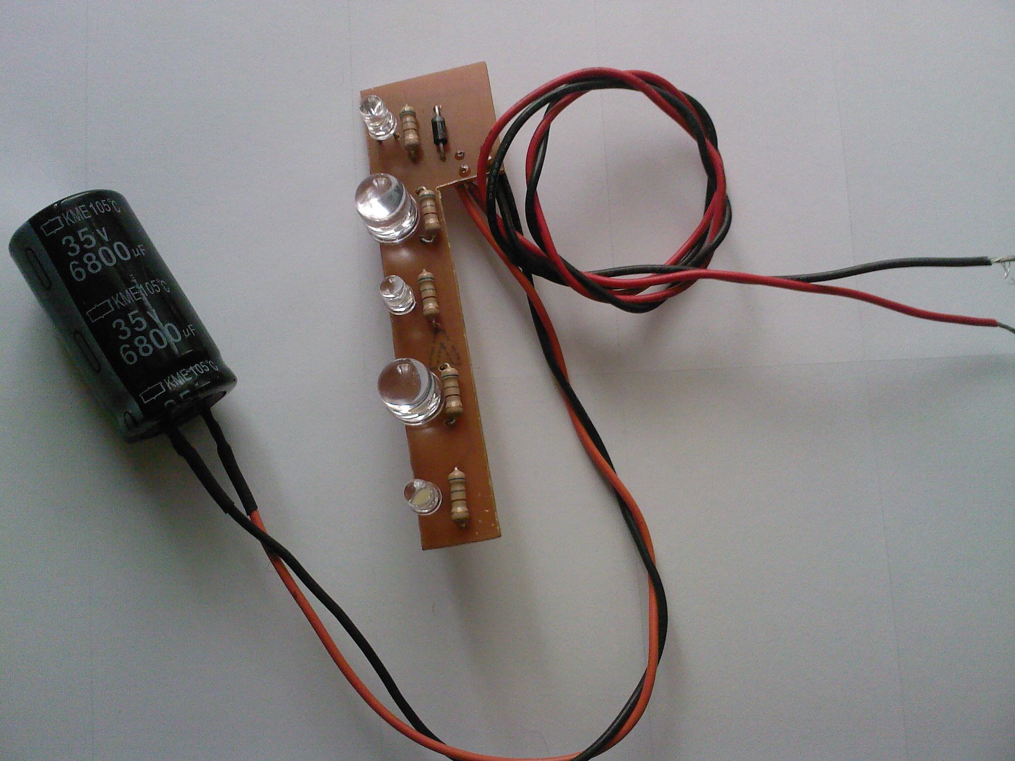 5 LED's for car battery 12v