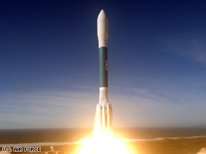 A Delta II rocket lifts off in December, carrying a reconnaissance satellite that failed hours later.