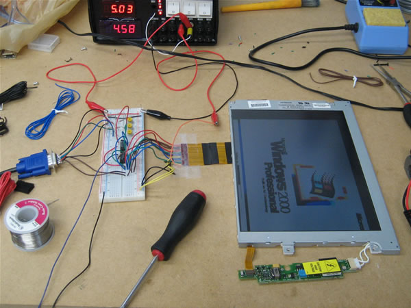 Laptop LCD Display to VGA Interface