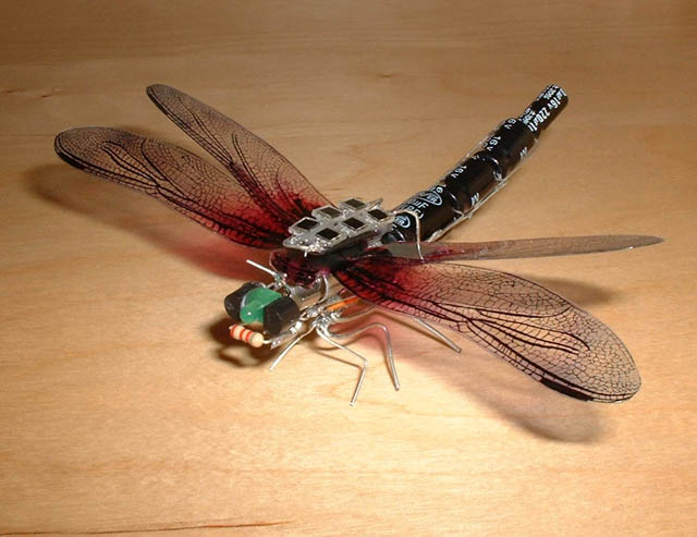 Solar powered DragonFly robot
