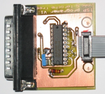 AVR ISP programmer parallel interface