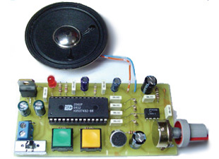 Digital Voice Record and Playback circuit based on ISD2560P