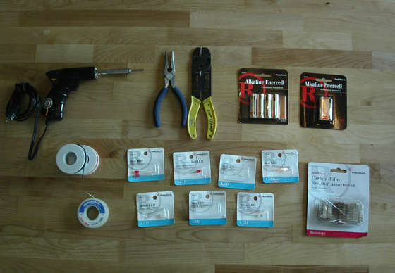 DIY LED Wiring tools in the picture