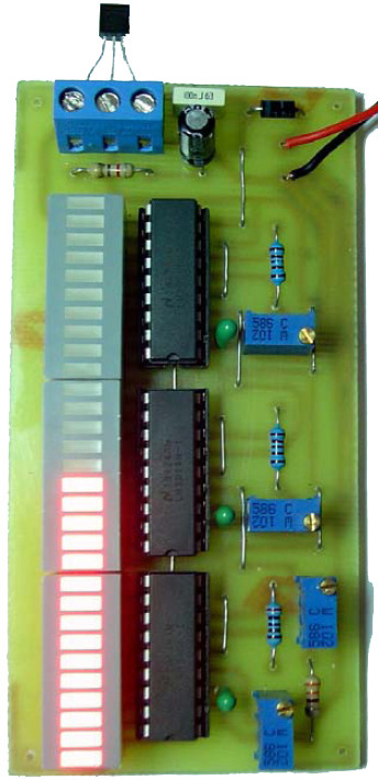 DIY Electronics Thermometer based on LM35 and LM3914