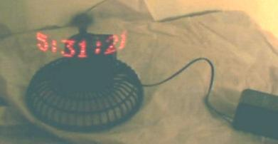 POV clock based on PIC16F84