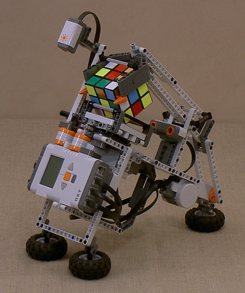 Tilted Twister: Lego Robot that solves Rubik's cube picture