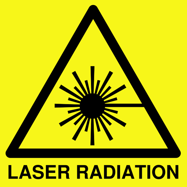 laser warning picture