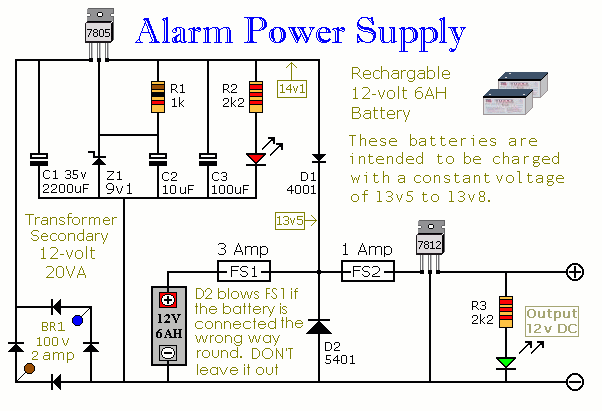 7805 Uninterruptible Alarm Power Supply