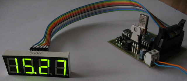 AVR controlled clock