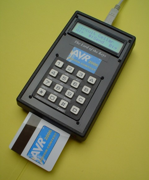 AVR password manager device