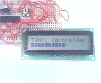 PIC16F84A temperature controller with LCD