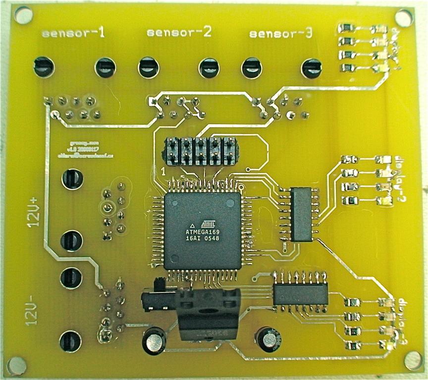 Veggie oil temperature monitor board