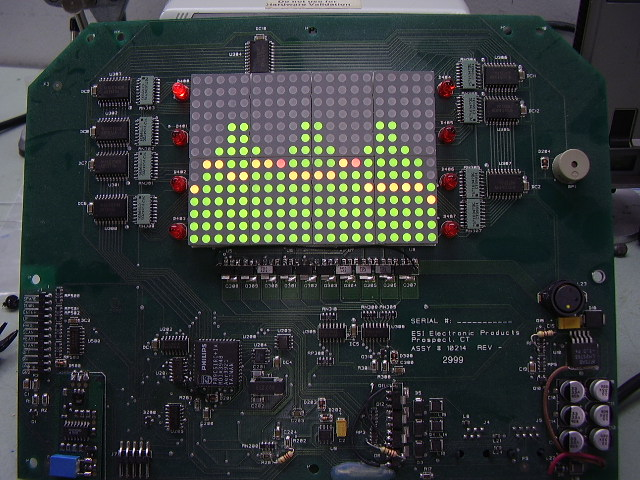 560 LED matrix display - top view