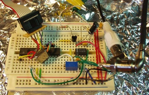 ATmega8 Video Overlay Circuit