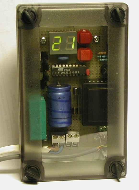 ATtiny2313 temperature controller board