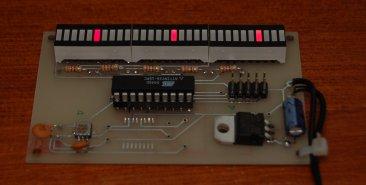 ATtiny26 Accelerometer assembled