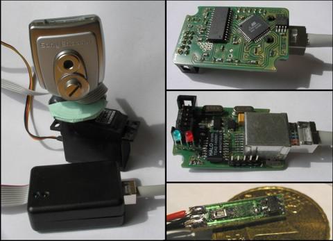 AVR Ethernet Webserver very small board