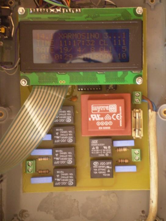 Church Bell Controller board + LCD
