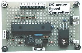DC motor speed controller board