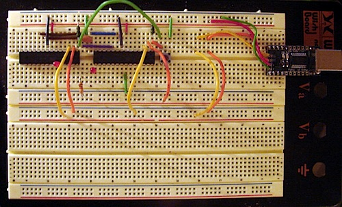 Dual Core Arduino on a breadboard