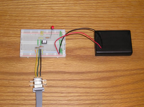 Getting Started with PICAXE Microcontrollers the basic circuit on a breadboard