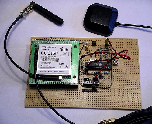 Interfacing an AVR controller to a GPS Mobile Phone