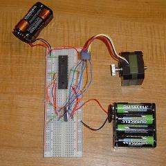 L298 stepper motor controller assembled on a breadbord