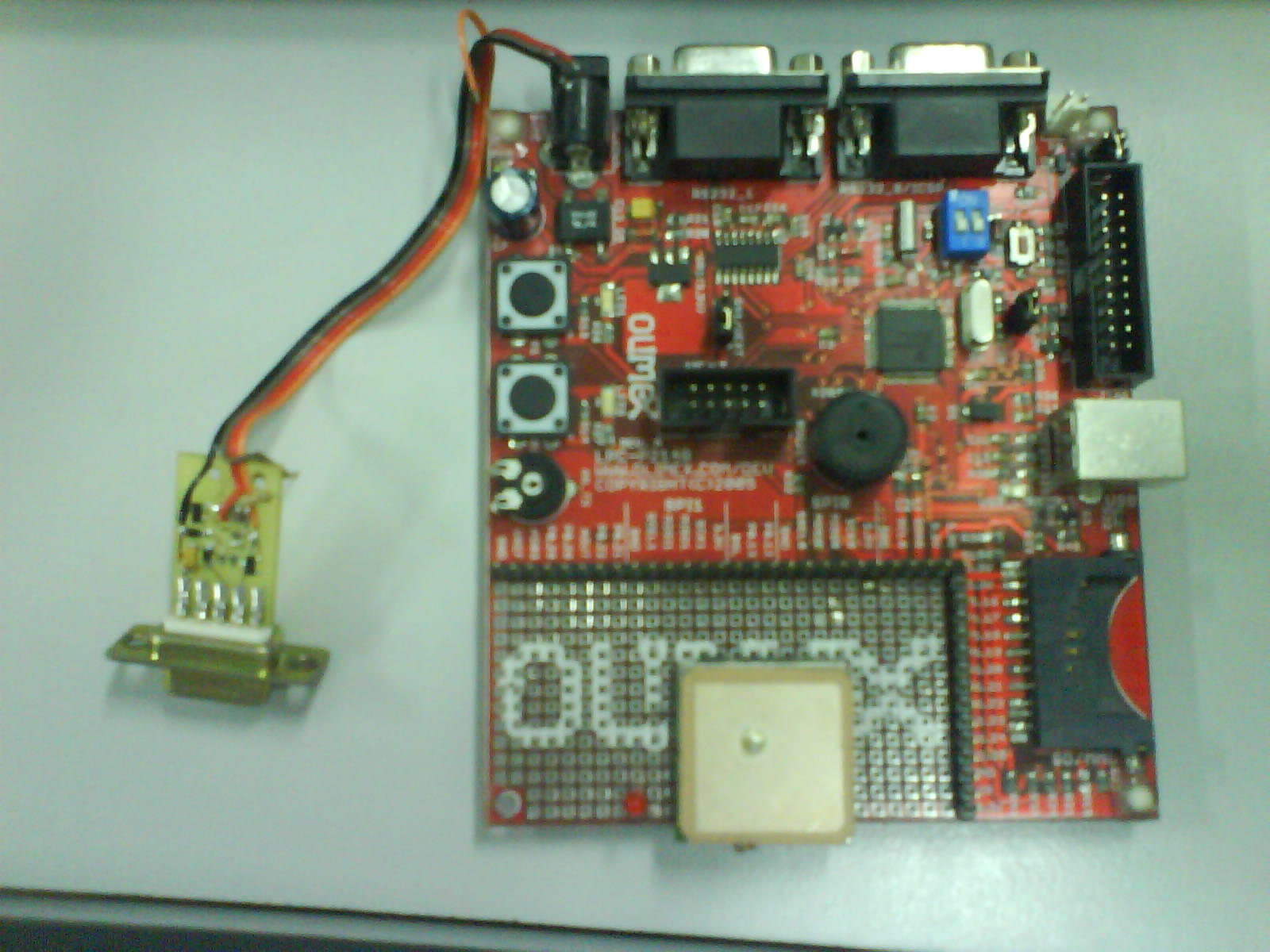 LPC2148 controlled GPS car speed and position logger