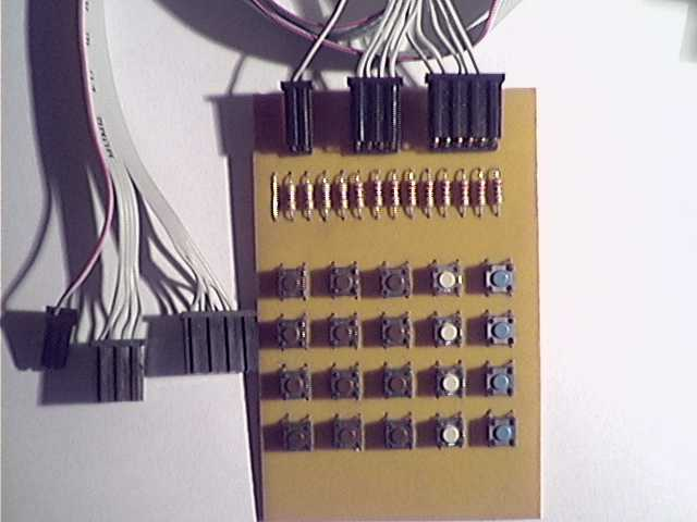 PIC16F877 and 4×5 keypad