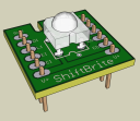 RGB LED driver : rendered PCB