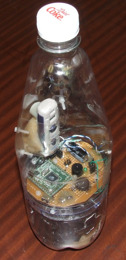 Rocket Controller based on Atmega16 placed inside a water rocket