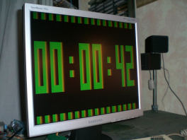 VGA clock with USB interface