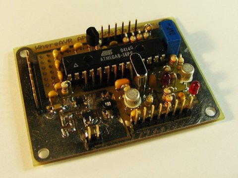 The WhereAVR PCb