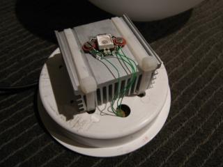 Computer controlled RGB Lamp heatsink