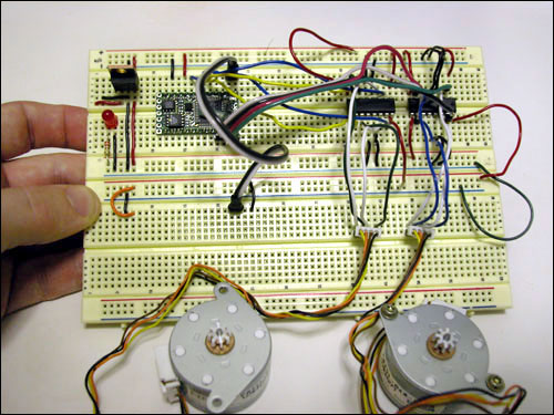 Driving a Bipolar Stepper Motor on Breadboard