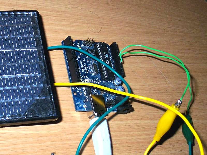 Hook a solar panel to your Arduino