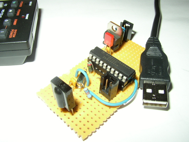 USB-IR-Boy Infrared Receiver Board and USB Cable