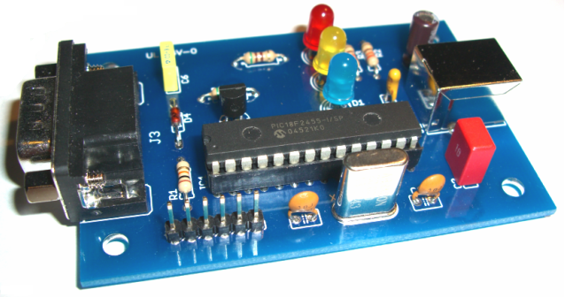 USB OBD2 Adapter Based on PIC18F2455