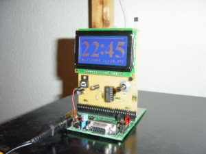T-Clock An ARM7 Controlled Blue LCD Clock