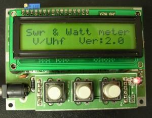 100w VHF / UHF LCD PIC16F88 SWR Meter