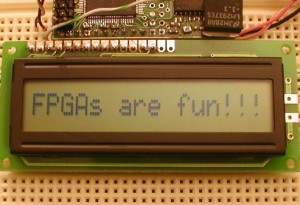 FPGA Chip Interfaced With LCD Module