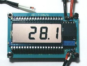 LCD Thermometer With Range  From -20 to +150°C
