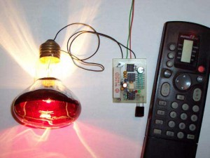 Wireless Controlled Lightdimmer Using TV Remote Control