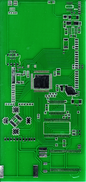 new pcb from bkrtech that is gonna be used for AVR ATmega64 dev board