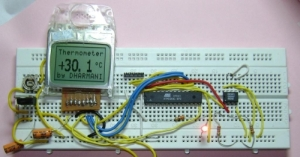 AVR thermometer+Nokia display