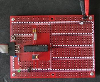 Atmega8 kit assembled
