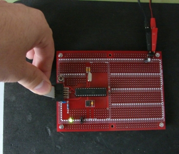 atmega8 demo cable touch no pull-up