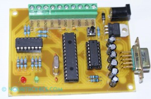 PIC16F876 development board