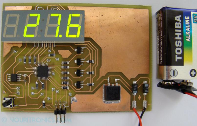 TMP275 digital thermometer board
