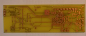 Double layer pcb home made vias